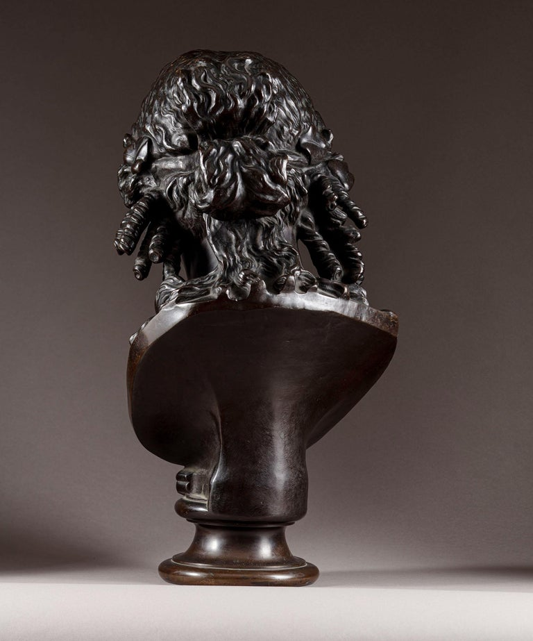 French Late 19th Century Bronze Bust of Ariadne F Barbedienne For Sale