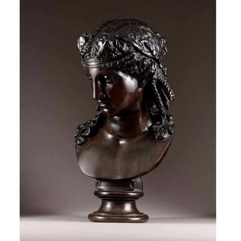 Late 19th Century Bronze Bust of Ariadne F Barbedienne In Good Condition For Sale In London, by appointment only