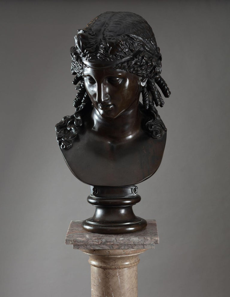 Late 19th Century Bronze Bust of Ariadne F Barbedienne For Sale 1