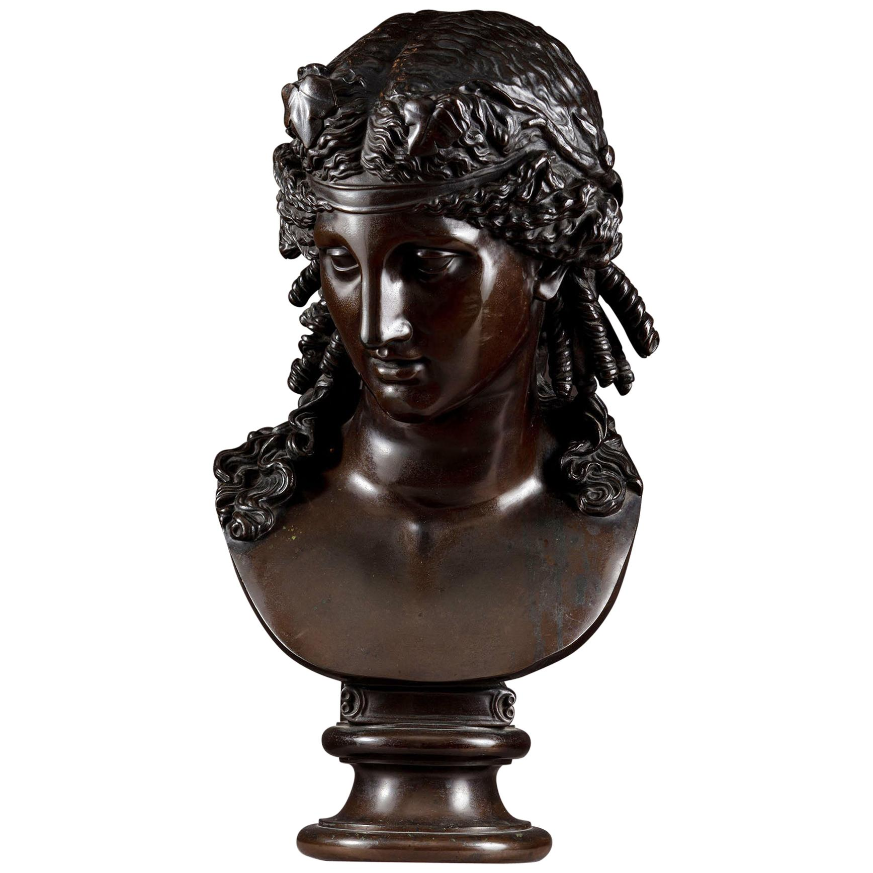 Late 19th Century Bronze Bust of Ariadne F Barbedienne