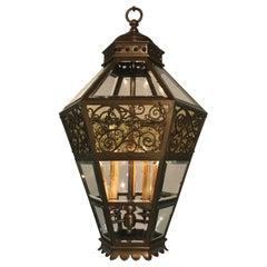 Late 19th Century Bronze Hanging Lantern