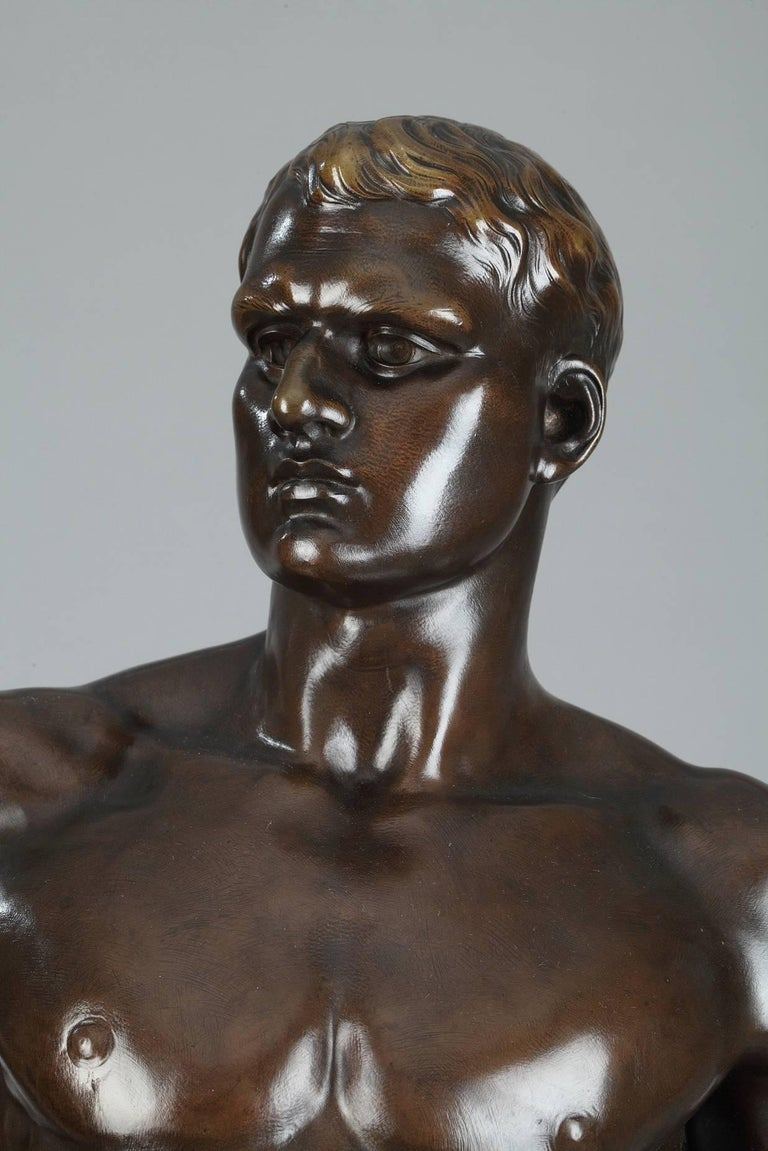 Late 19th Century Bronze Sculpture, Le Travail Signed Moreau In Excellent Condition In Paris, FR