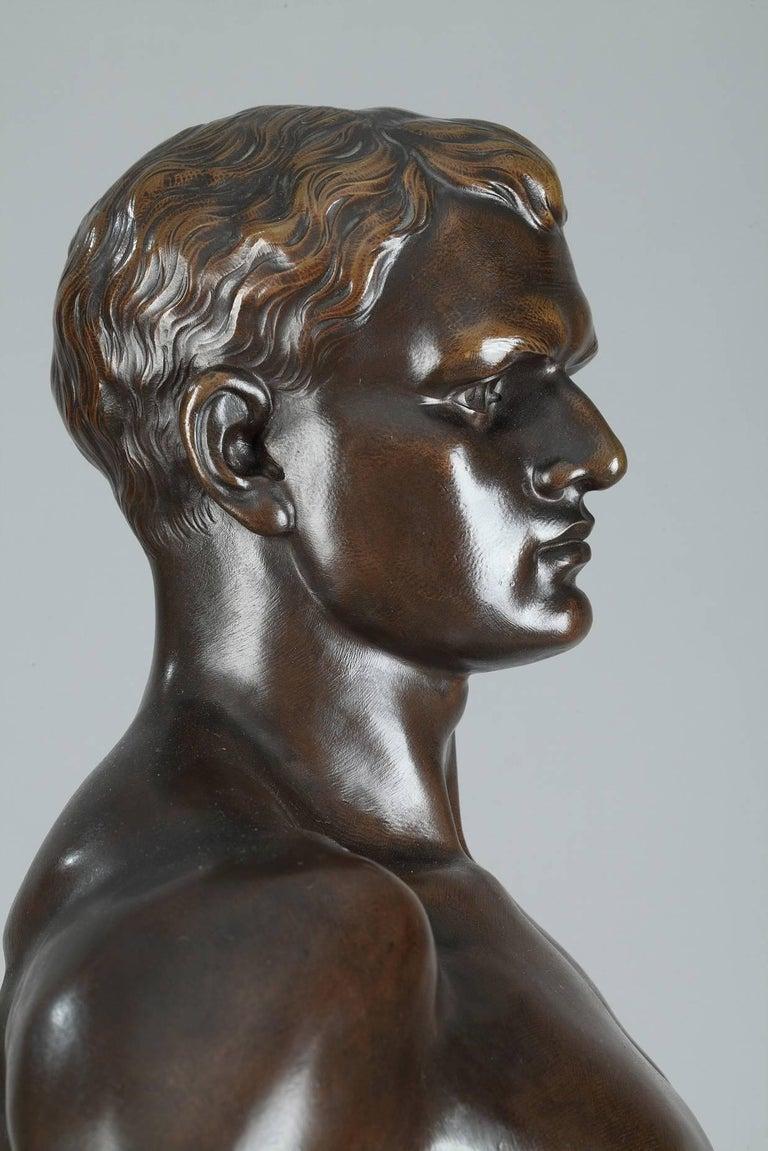 Late 19th Century Bronze Sculpture, Le Travail Signed Moreau 1