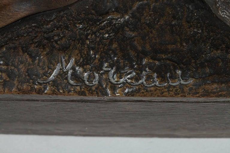 Late 19th Century Bronze Sculpture, Le Travail Signed Moreau 2