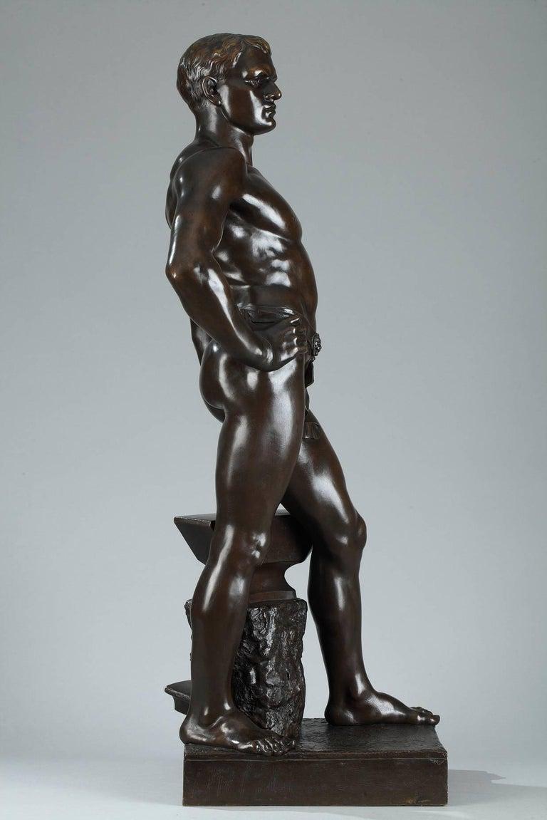 Late 19th Century Bronze Sculpture, Le Travail Signed Moreau 3