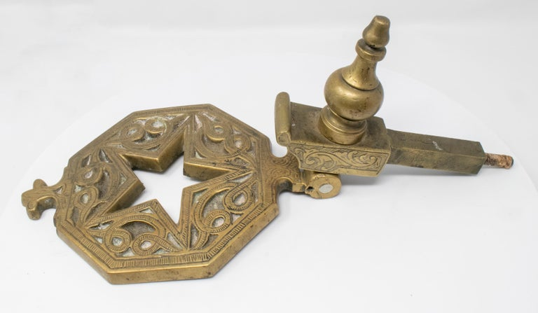 Late 19th Century Bronze Star Shaped Door Knock For Sale 1