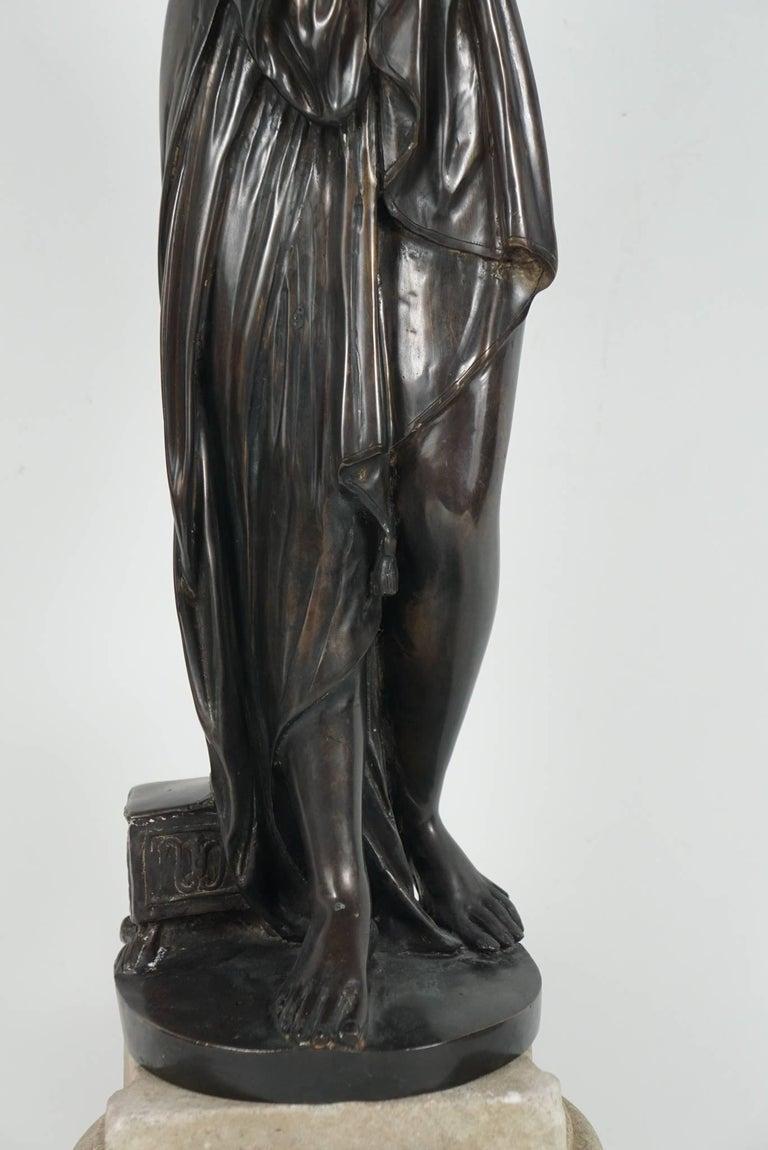 Italian Late 19th Century Bronze Statue of Venus For Sale