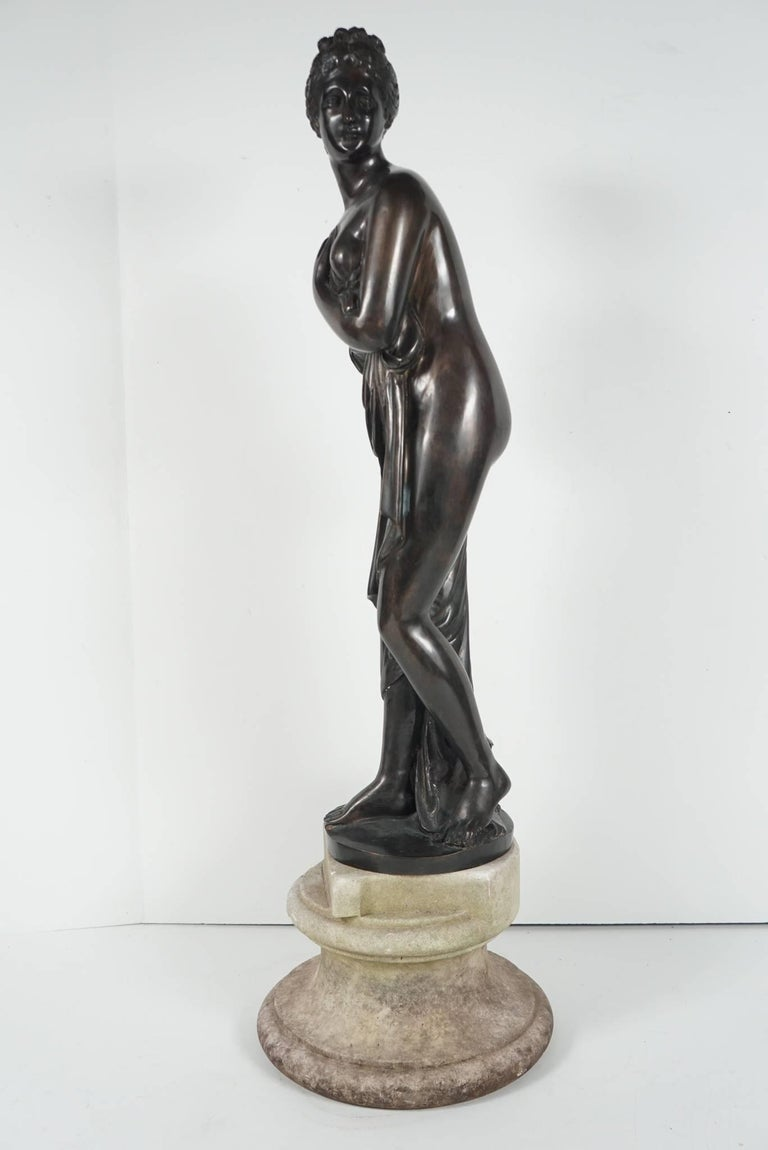 Late 19th Century Bronze Statue of Venus In Good Condition For Sale In Hudson, NY