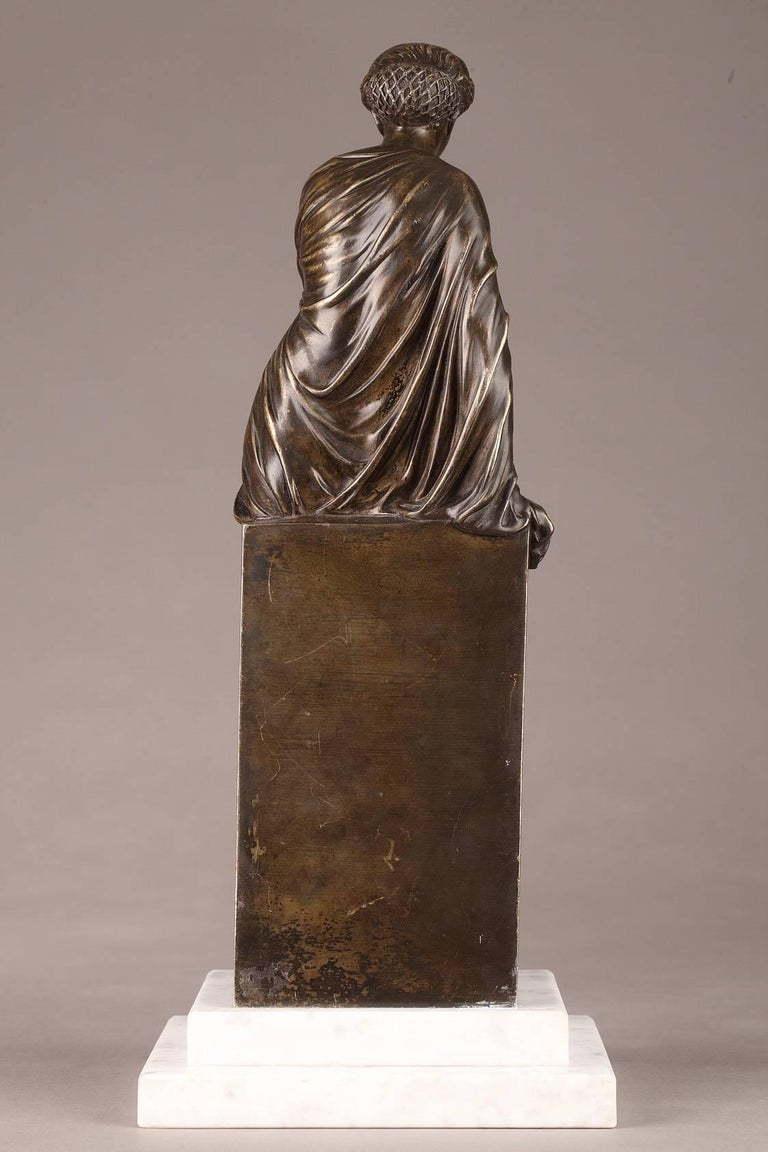 Late 19th Century Bronze Statue, Suzanne by Eugene-Antoine Aizelin In Good Condition For Sale In Paris, FR
