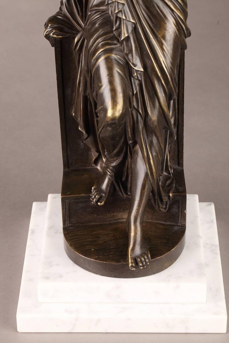 Late 19th Century Bronze Statue, Suzanne by Eugene-Antoine Aizelin For Sale 1