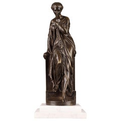 Late 19th Century Bronze Statue, Suzanne by Eugene-Antoine Aizelin