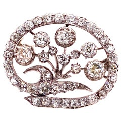 Late 19th Century Brooch with Old Cut Diamonds