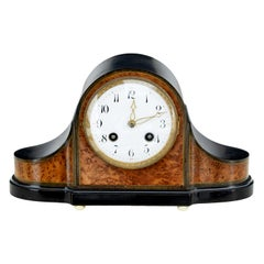 Late 19th Century Burr Walnut Mantle Clock by Lenzkirch