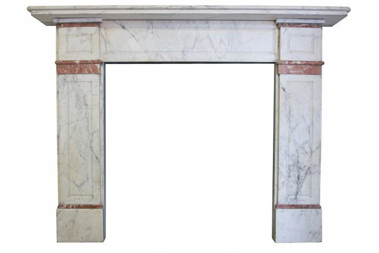 Victorian Late 19th Century Carrara Marble Fireplace Surround For Sale
