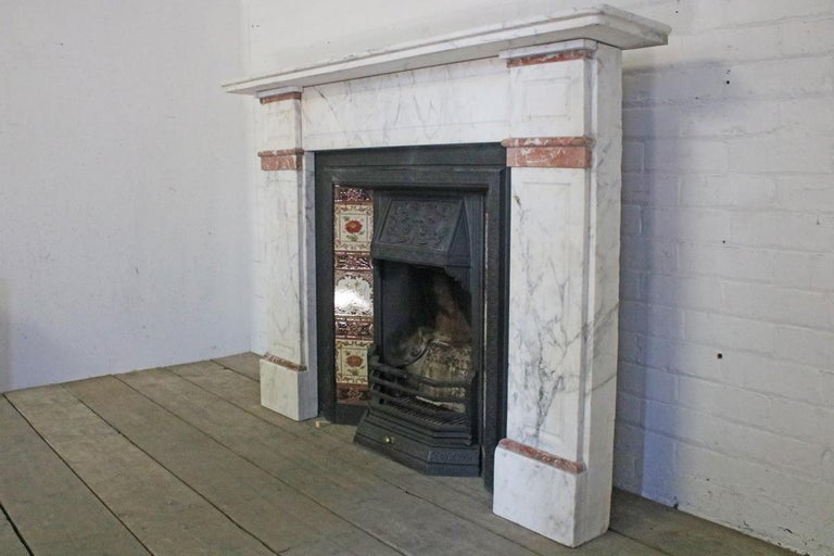 Late 19th Century Carrara Marble Fireplace Surround In Good Condition For Sale In Manchester, GB