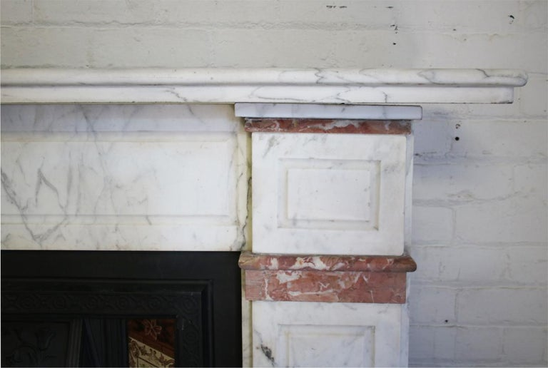 Late 19th Century Carrara Marble Fireplace Surround For Sale 1