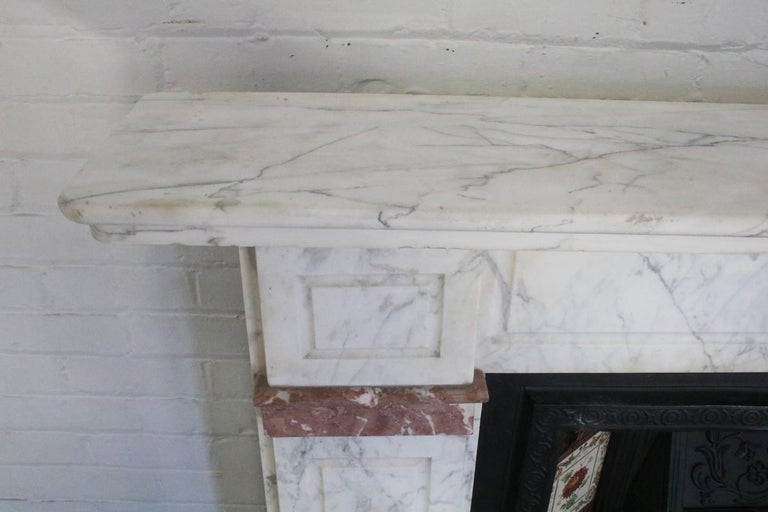 Late 19th Century Carrara Marble Fireplace Surround For Sale 2