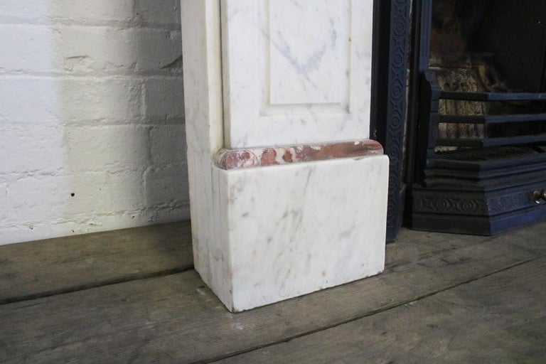 Late 19th Century Carrara Marble Fireplace Surround For Sale 3