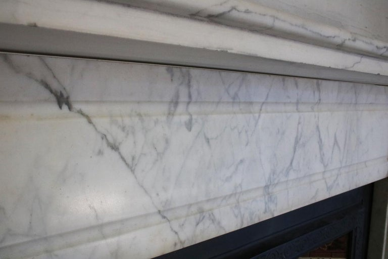 Late 19th Century Carrara Marble Fireplace Surround For Sale 4