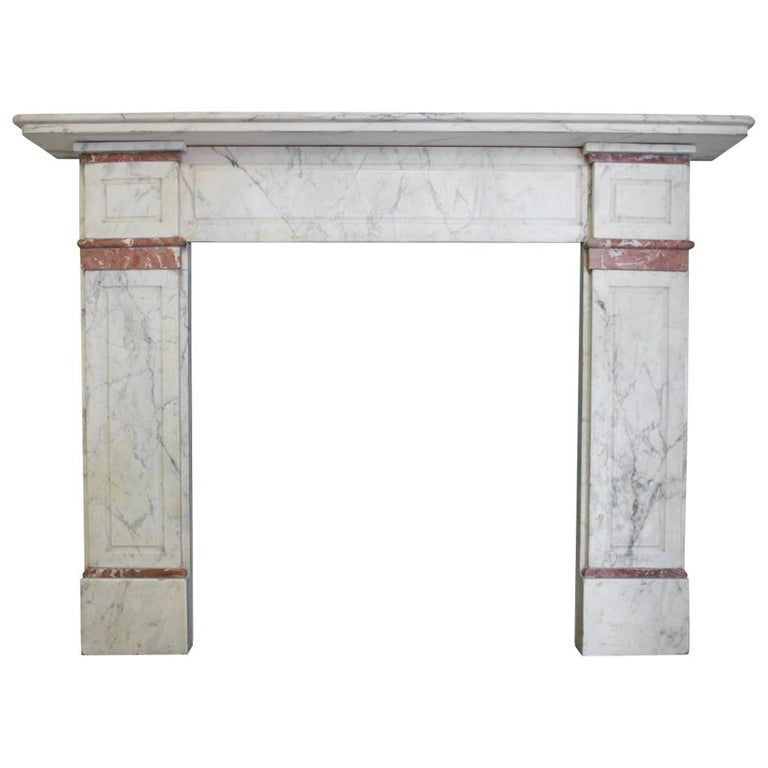 Late 19th Century Carrara Marble Fireplace Surround For Sale
