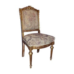 Late 19th Century Carved Giltwood Side Chair
