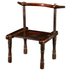 Late 19th Century Carved Senufo Hardwood Chair