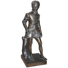 Late 19th Century Cast Bronze Figure of a Youth in Shakespearean Style Costume