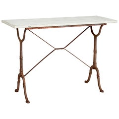 Late 19th Century Cast Iron Side Table