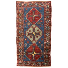 Late 19th Century, Caucasian Wool Rug, Kazak, Geometric Design, circa 1890