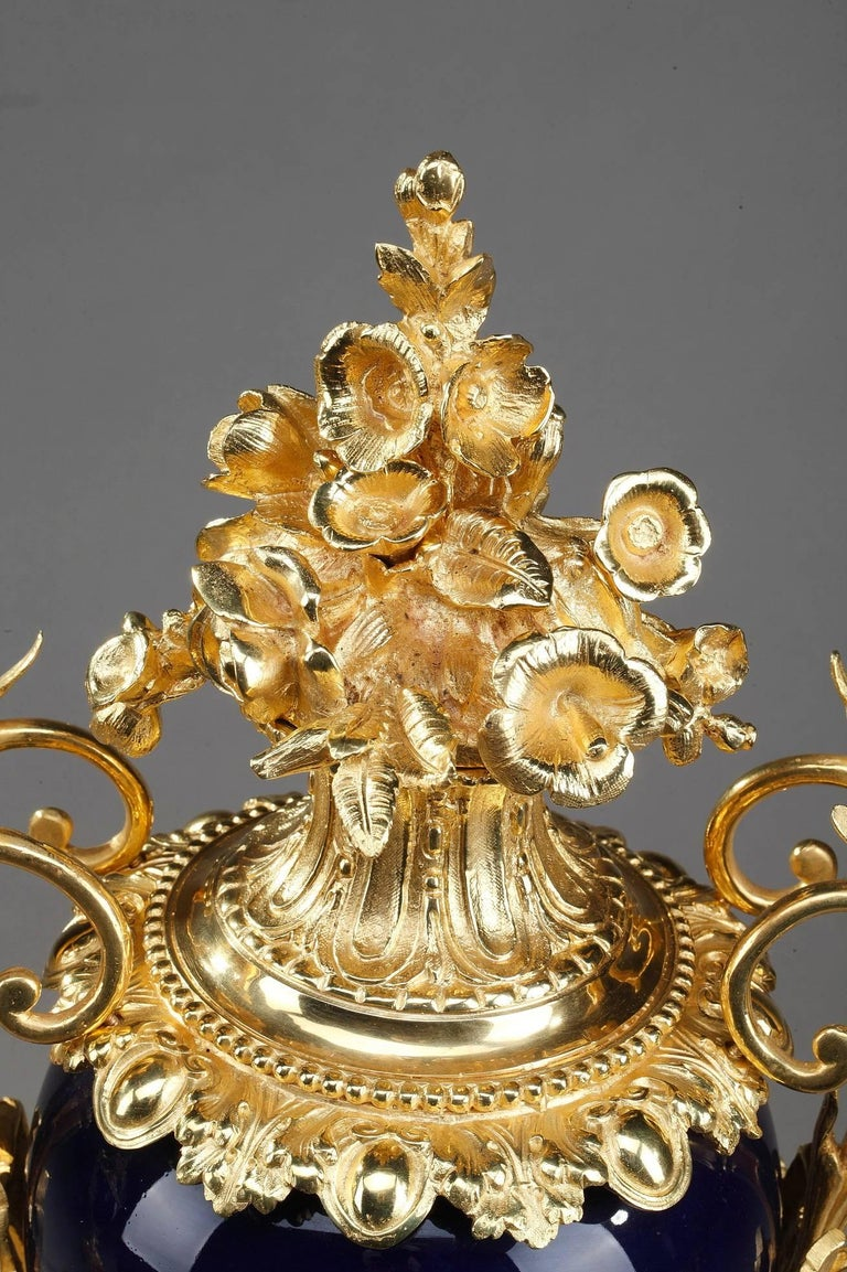 Late 19th Century Centerpiece Vases with Ormolu Mounts For Sale 2