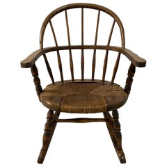 Late 19th Century Child's Windsor Rocking Chair