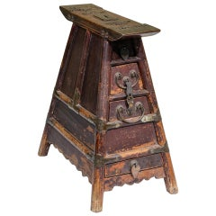 Late 19th Century Chinese Barber's Stool