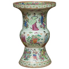 Late 19th Century Chinese Export Rose Famille Vase