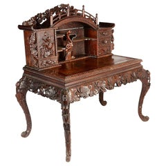 Late 19th Century Chinese Hardwood Desk