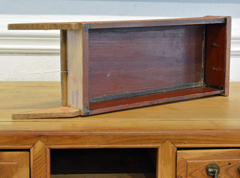 Late 19th Century Chinese Natural Color Elm Wood Desk For Sale 3