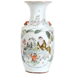 Late 19th Century Chinese Polychromed Porcelain Vase