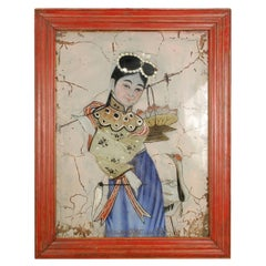Late 19th Century Chinese Reverse Glass Painting