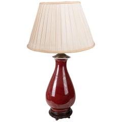 Late 19th Century Chinese Sang du Boufe Vase or Lamp