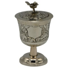 Late 19th Century Chinese Silver Kiddush Goblet