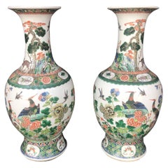 Late 19th Century Chinese Vases Famille Verte