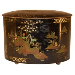 Late 19th Century Chinoiserie Tea Tin