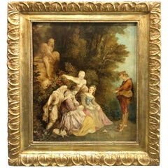 Late 19th Century Coeval Framed Italian Oil on Canvas Depicting Musicians