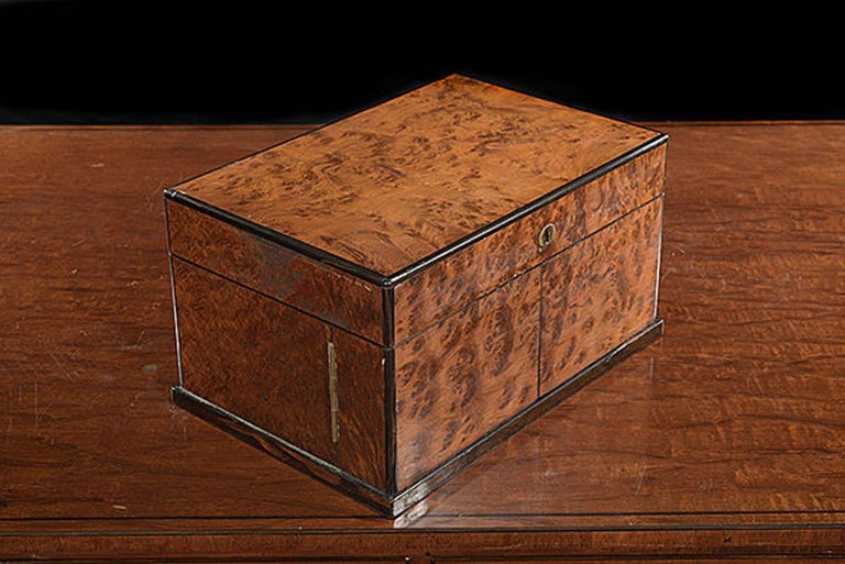 Victorian Late 19th Century Compendium in a Burr Yew Wood & Coromandel Box Cabinet For Sale