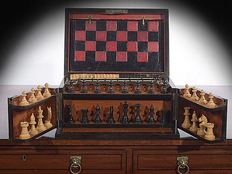 Late 19th Century Compendium in a Burr Yew Wood & Coromandel Box Cabinet For Sale 1