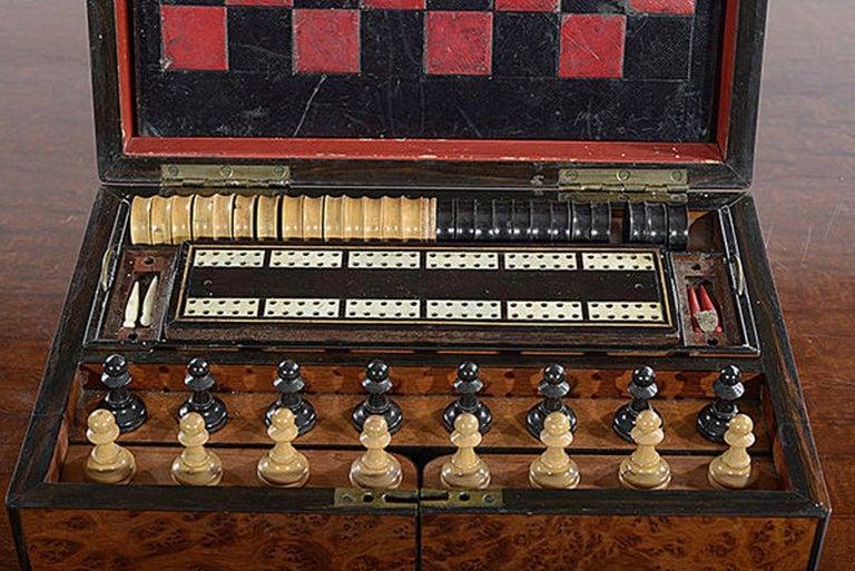 Late 19th Century Compendium in a Burr Yew Wood & Coromandel Box Cabinet For Sale 2