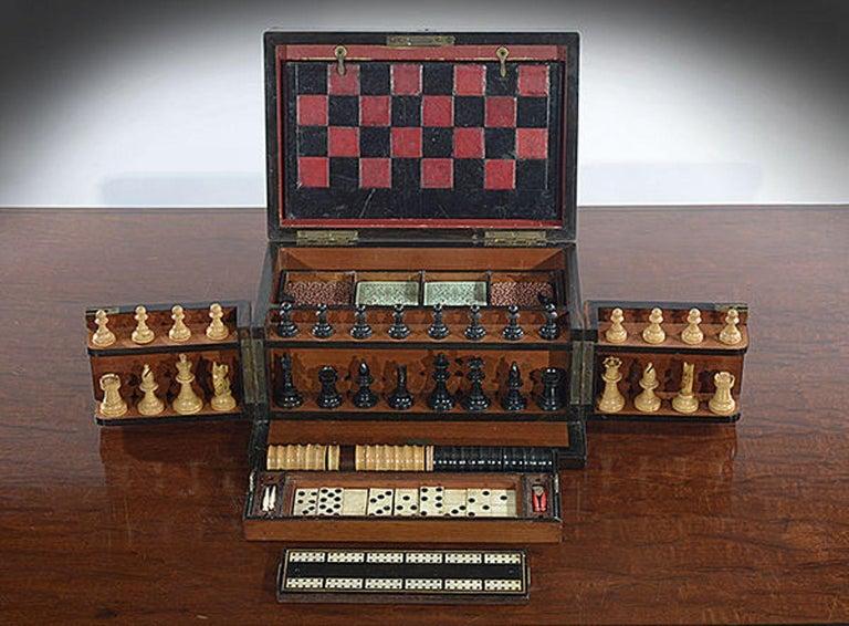 Late 19th Century Compendium in a Burr Yew Wood & Coromandel Box Cabinet For Sale 3