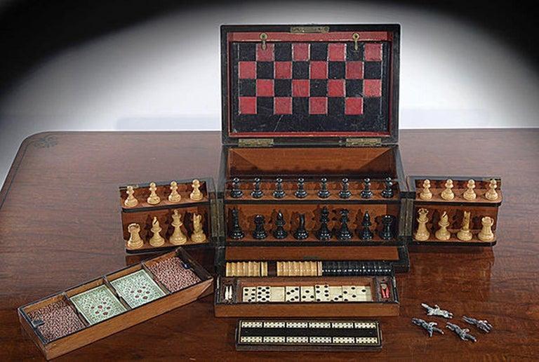 Late 19th Century Compendium in a Burr Yew Wood & Coromandel Box Cabinet For Sale 4