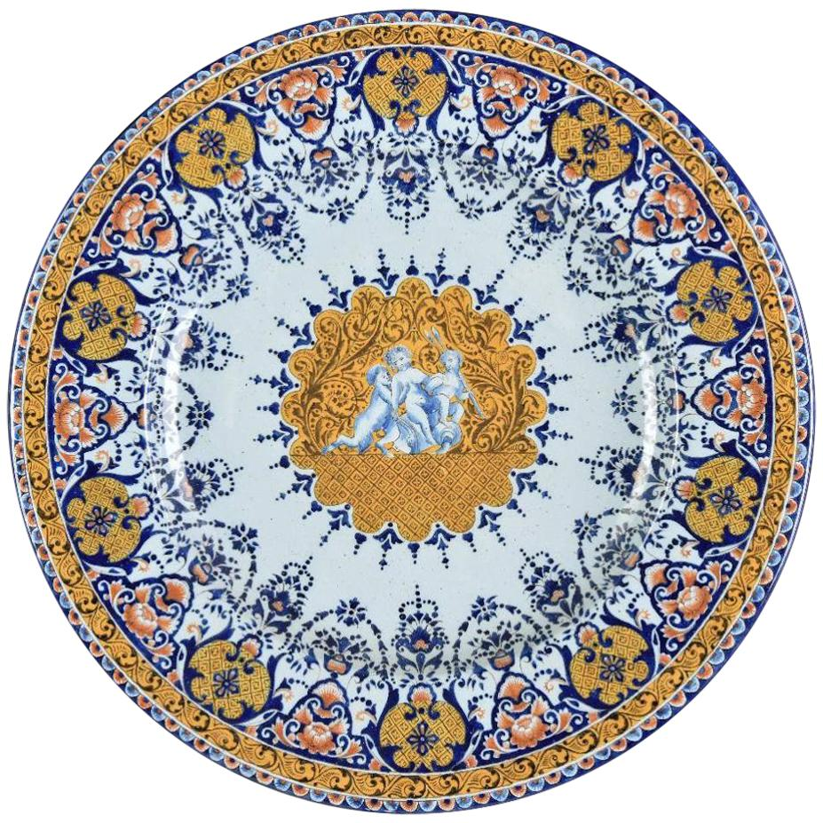 Late 19th Century Continental Pottery Charger