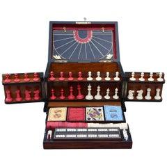 Late 19th Century Coromandel Fitted Games Compendium