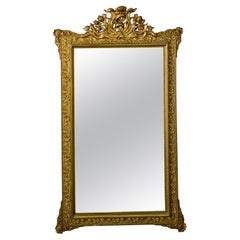 Late 19th Century Crested French Gilded Mirror
